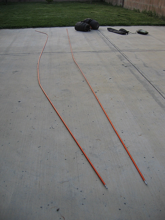 bent tent poles from anacapa island winds