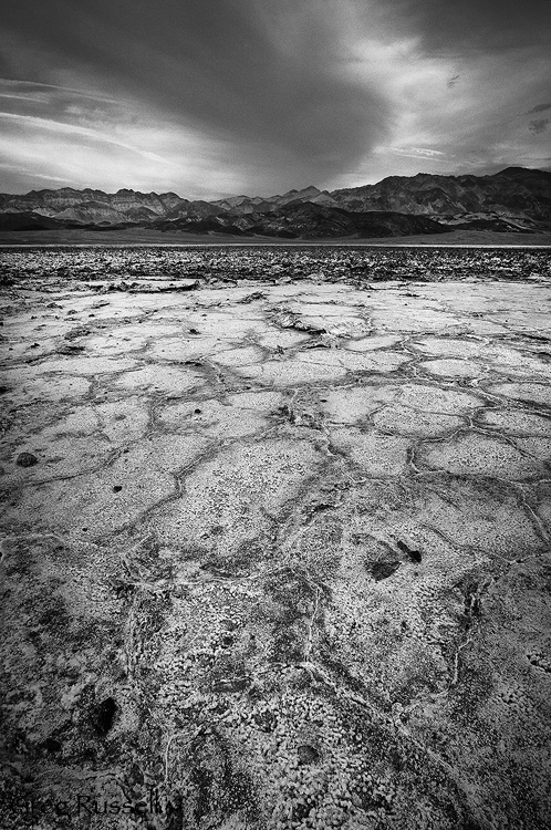 storm in death valley national park, california