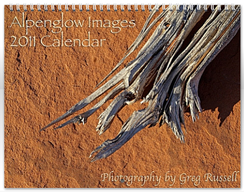 2011 Alpenglow Images calendar cover