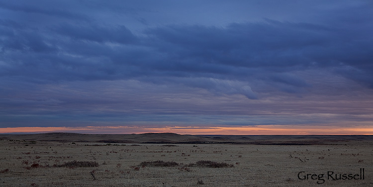 A sunset on the eastern Wyoming plains north of Cheyenne