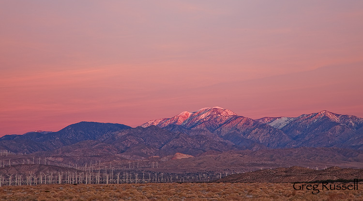 San Gorgonio Mountain at sunrise