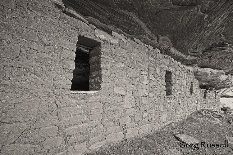 An Ancestral Puebloan Dwelling near Moon House in McCloyd Canyon, Cedar Mesa, Utah