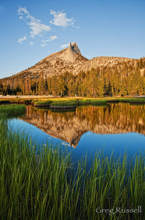 Reflection of Cathedral Peak in Yosemite National Park, California