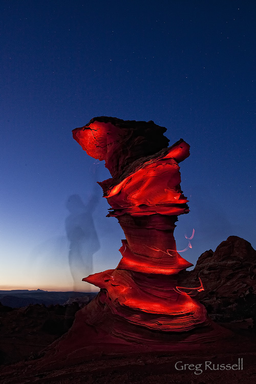 Light painting at Dali Rock