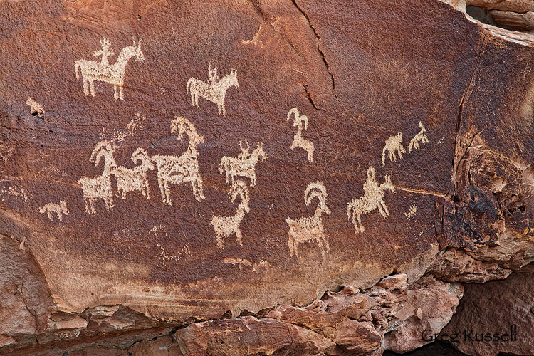 Wolfe Ranch Petroglyphs, Arches National Park, Utah