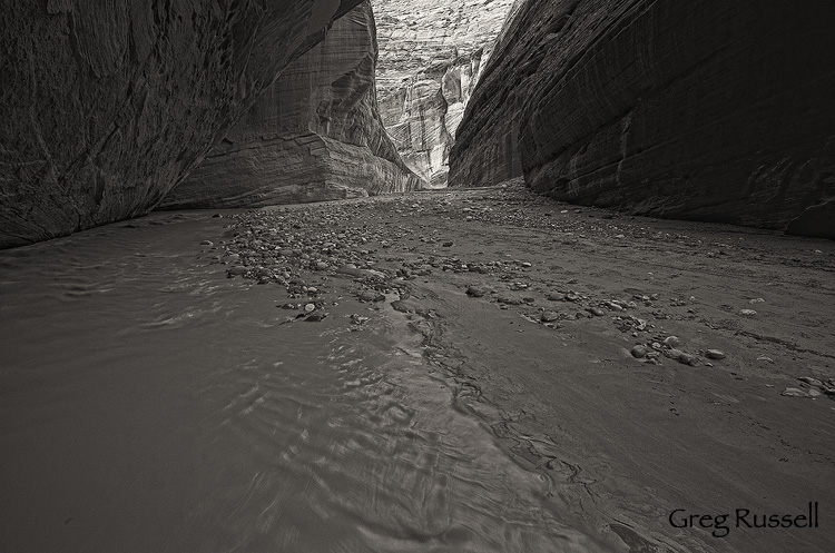 Narrows of the Paria River, in southern Utah