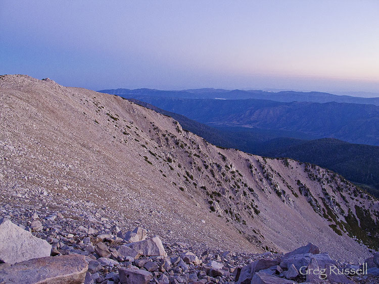 Predawn light on San Gorgonio Mountain