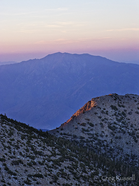 Mt. San Jacinto at dawn