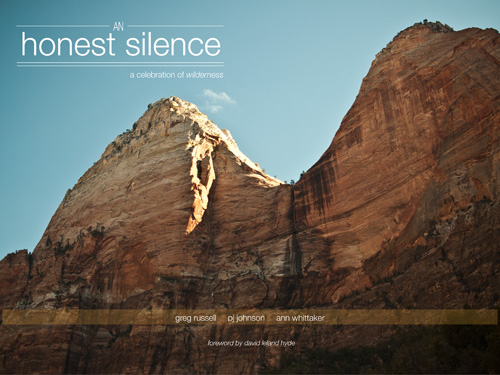 book cover to An Honest Silence: A celebration of wilderness