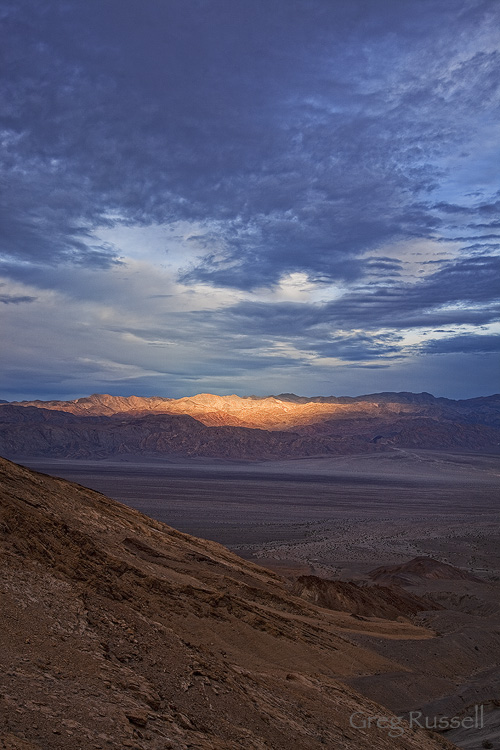 Early morning light on the Panamint Mountains