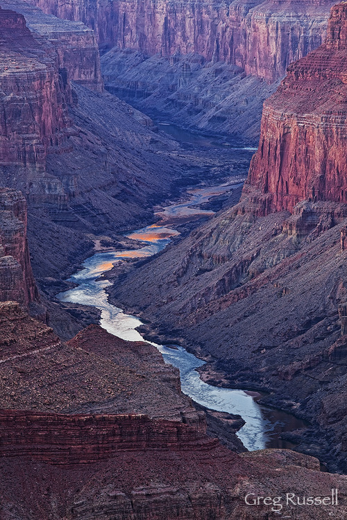 Reflected light in the Colorado River