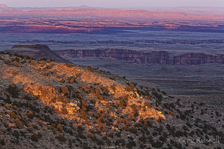 sunset on the little colorado river gorge