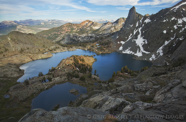 Sunset over Minaret Lake, Ansel Adams Wilderness California
