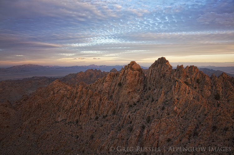 Sunset on Dyadic Point, Coxcomb Mountains