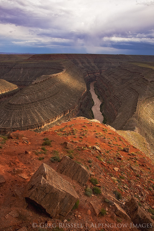 san juan river from goosenecks state park, utah