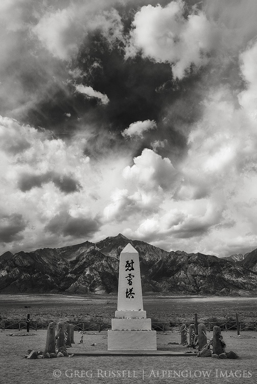 Manzanar cemetary, with Mt. Williamson