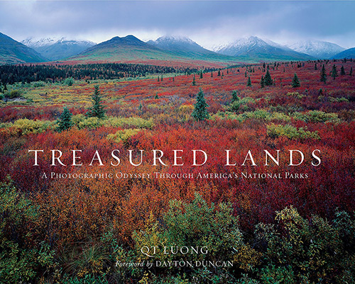 cover photograph of treasured lands book by qt long