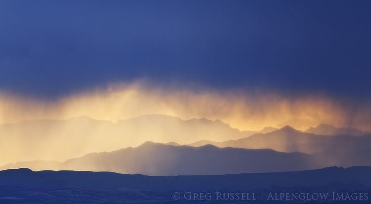 photograph of mountain ranges and rain in nevada