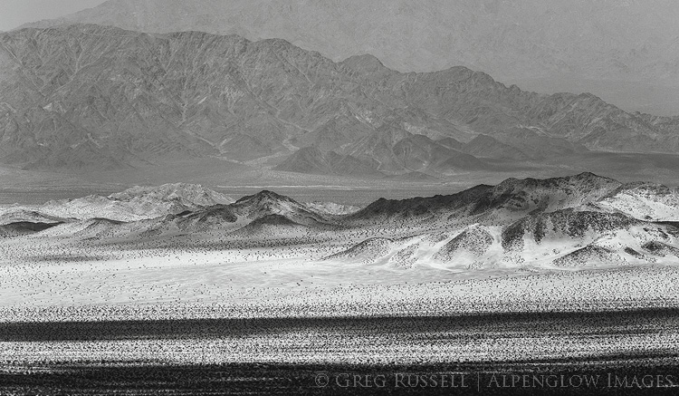 photo of mountain ranges and valleys in Mojave Trails National Monument