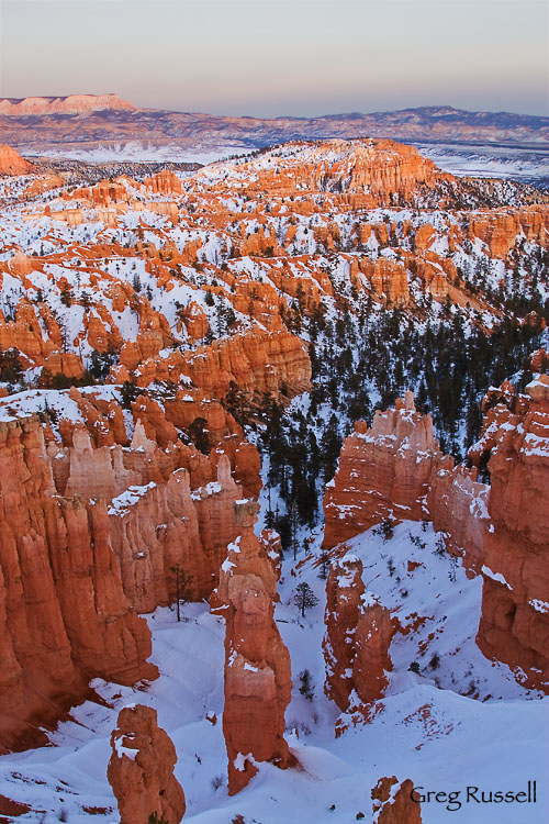 Bryce Amphitheater at sunset, Bryce Canyon National Park, Utah
