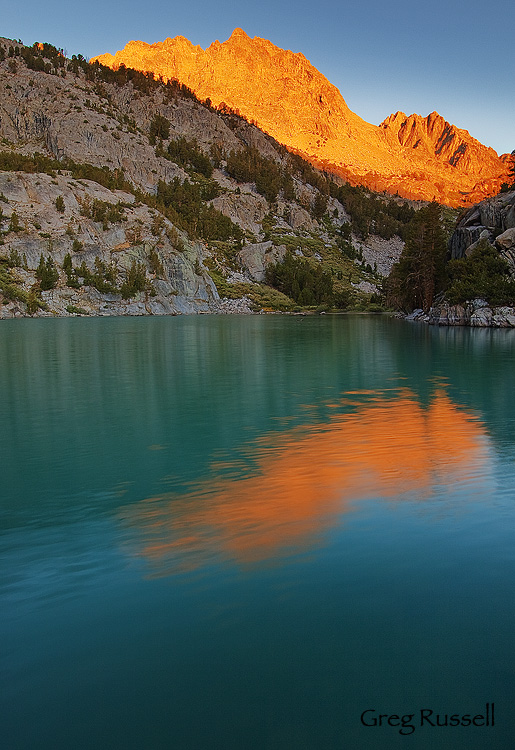 sunrise over mt. robinson, john muir wilderness, california