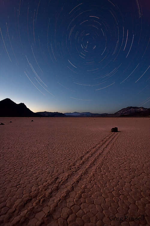 racetrack star trails