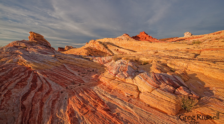 Dramatic sunset at Valley of Fire State Park, Nevada