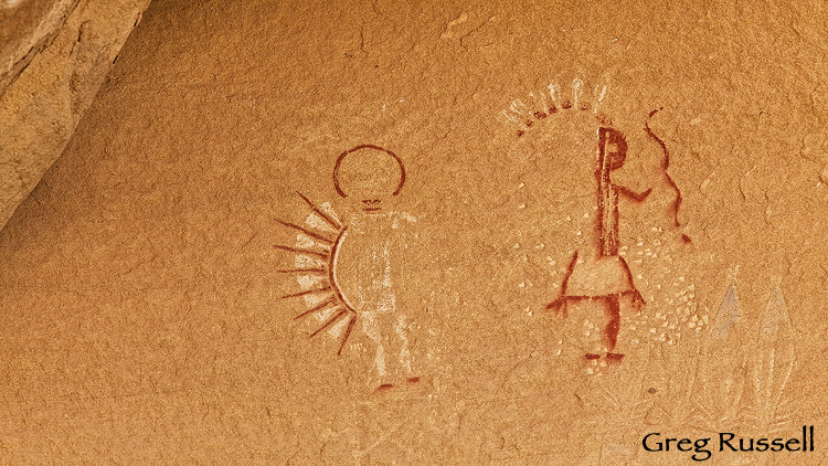 A Navajo pictograph from the San Juan Basin of northern New Mexico