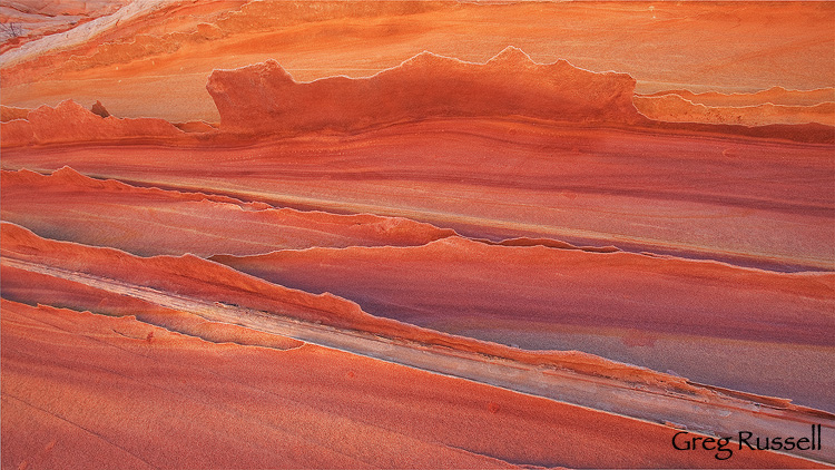 beautiful and colorful sandstone formation, with calcite, southern utah