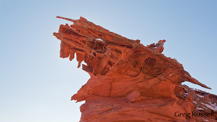 Sandstone formation in the coyote buttes north, arizona