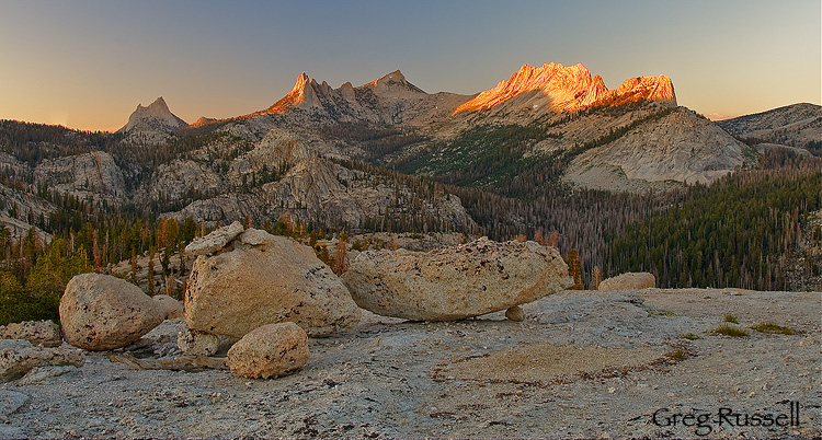 The Cathedral Range, Yosemite National Park, Californi