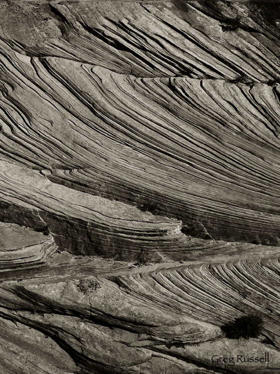 Cross bedding abstract photo, Zion National Park, Utah