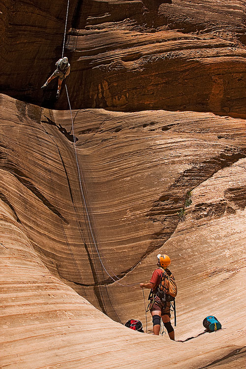 Canyoneers in Zion National Park, Utah